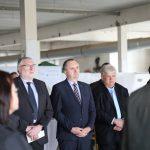 Landrat Matthias Damm, Staatsminister Thomas Schmidt, Bürgermeister von Hainichen Dieter Greysinger
